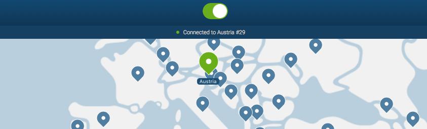 VPN Österreich Screenshot