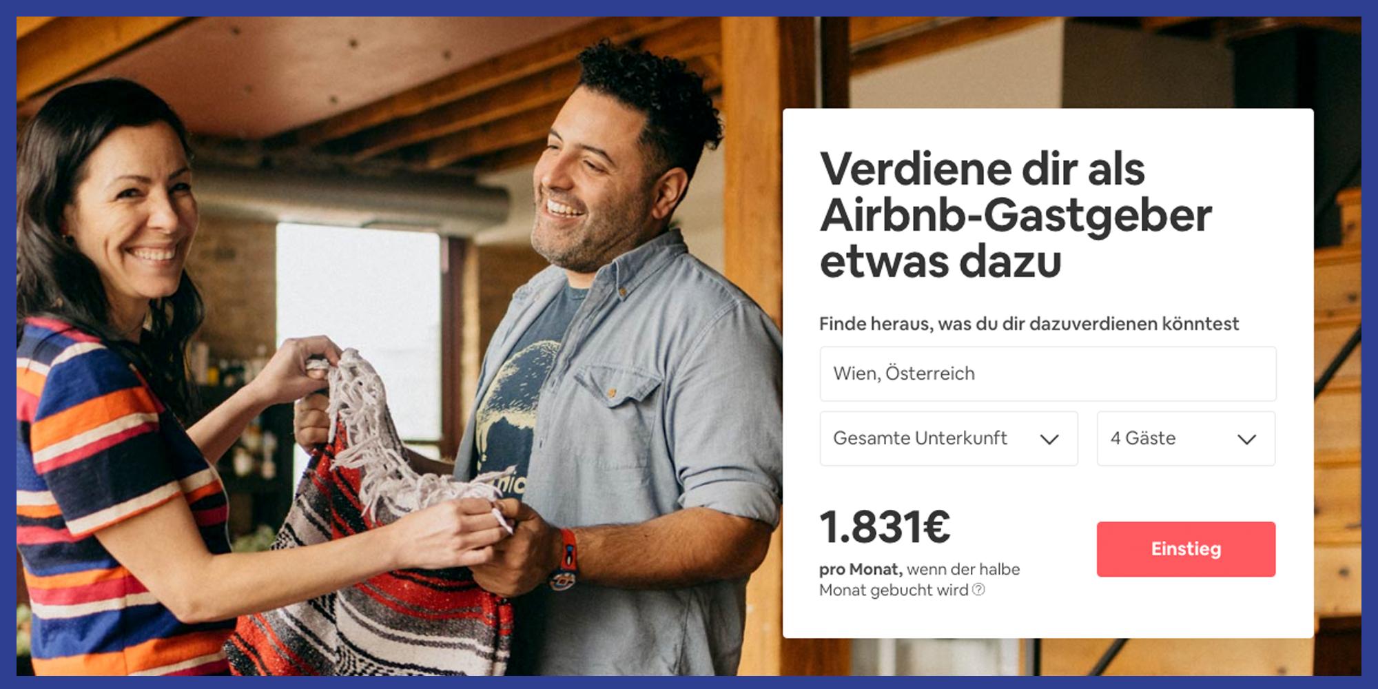 Nebenjob airbnb Vermieter