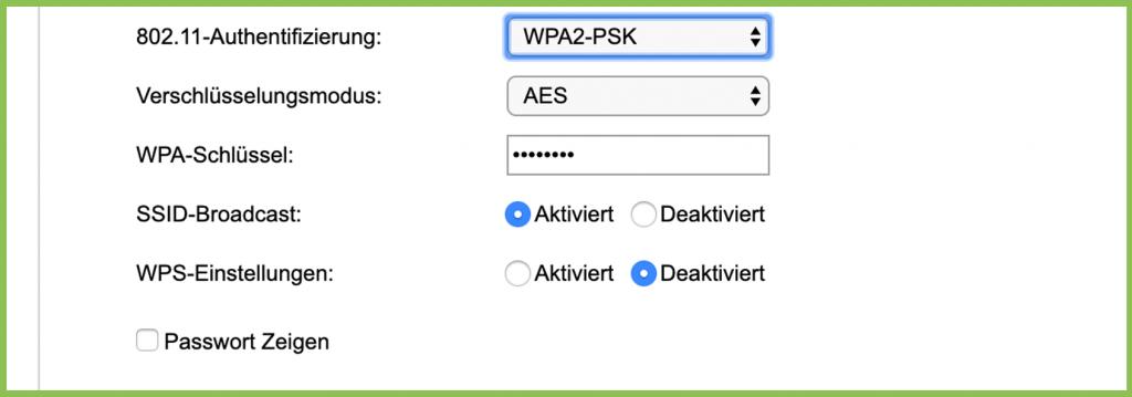 WPA Verschlüsselung