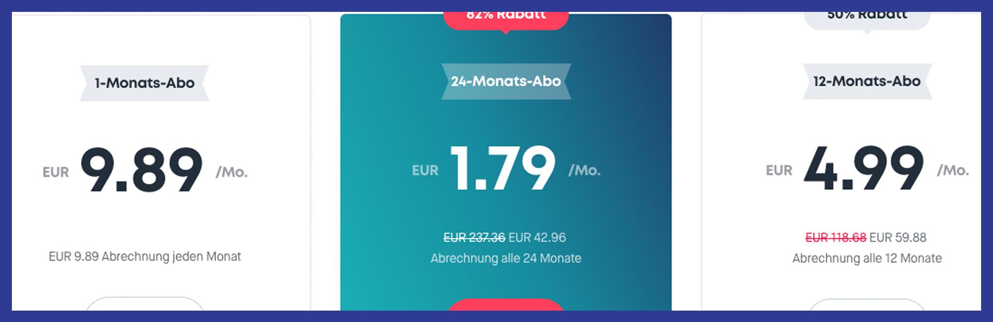 Surfshark VPN Preise