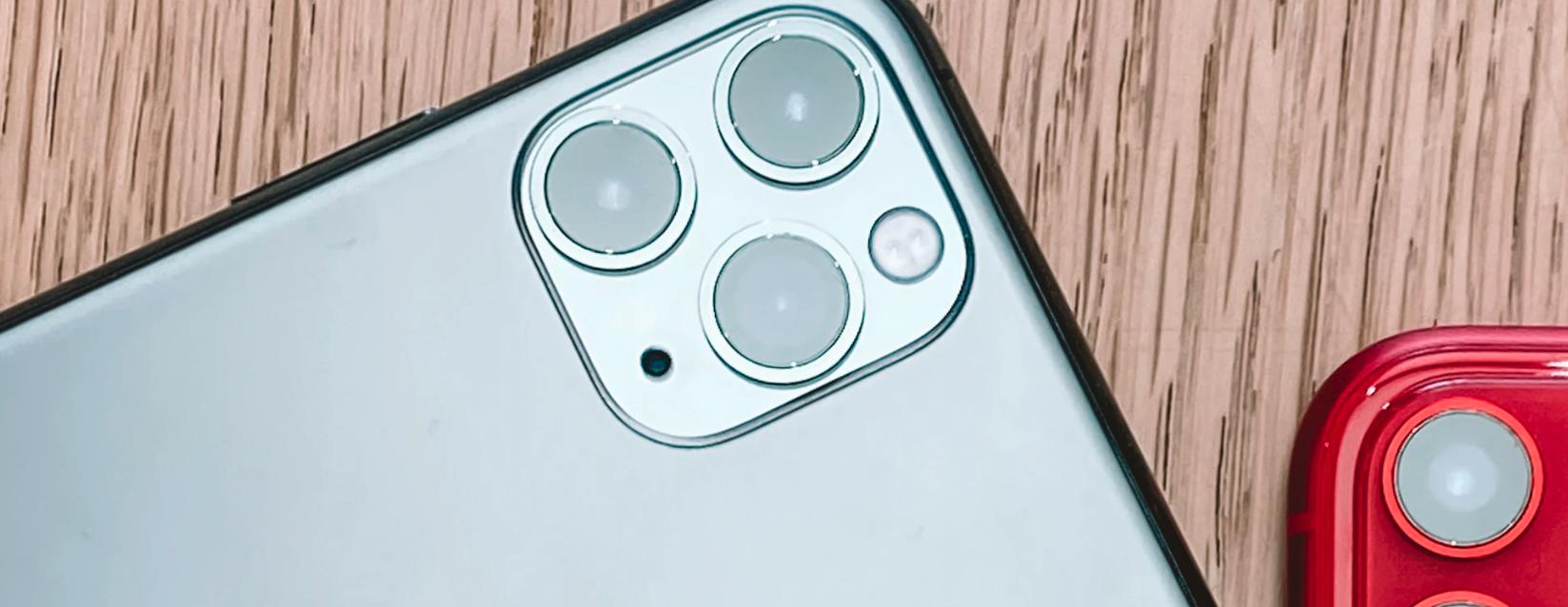 iPhone 11 in grau und rot